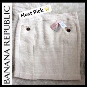 ⭐️HP⭐️NWT BR Petite Ivory Wool Blend Skirt